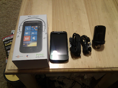 HTC Mozart 7 Windows Phone 7 un boxing part 2