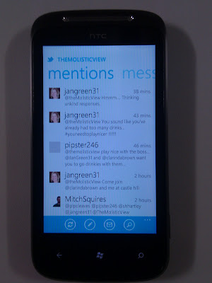 Twitter application on Windows Phone 7