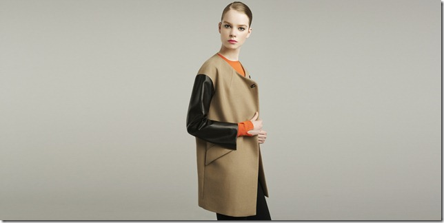 Zara lookbook camel and orange