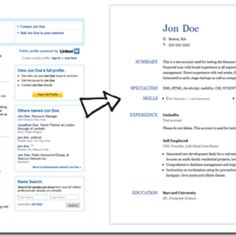 how to create a printable resume from linkedin profile