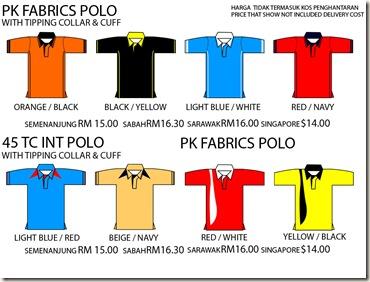 pk fabric polo