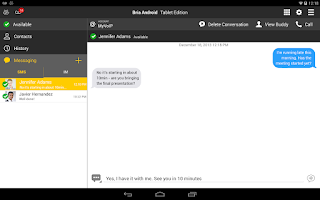 Screenshot of Bria Stretto™ for Tablet