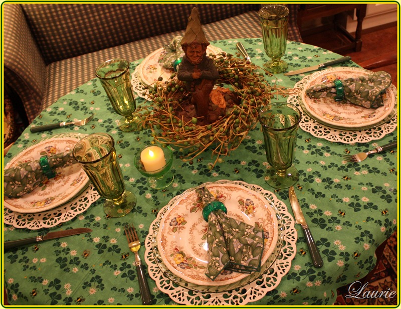 St. Patrick's Tablescape-Bargain Decorating with Laurie