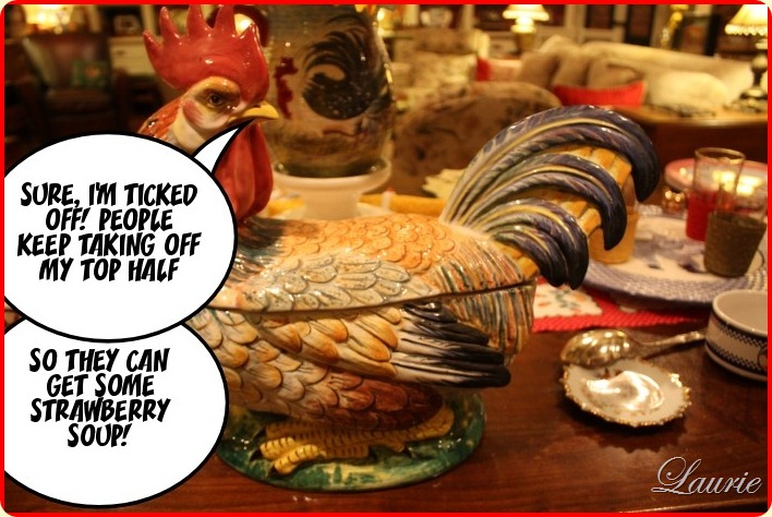 rooster captioned