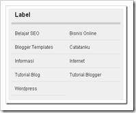 membuat label blog menjadi 2 kolom