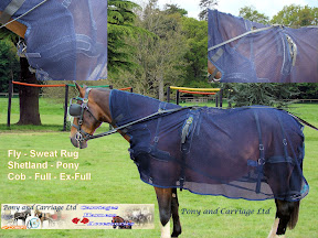 New Carriage Driving Harness Fly Netting Quarter Sheet Rug