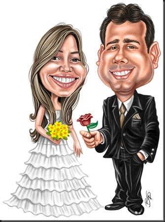 Maiara e noivo