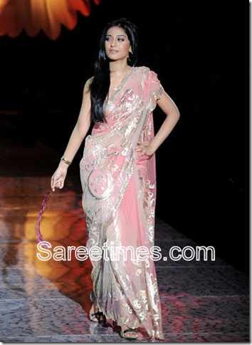 Amrita_rao_Pink_Designer_Saree