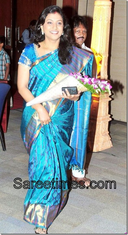 Roja_Blue_Designer_Saree