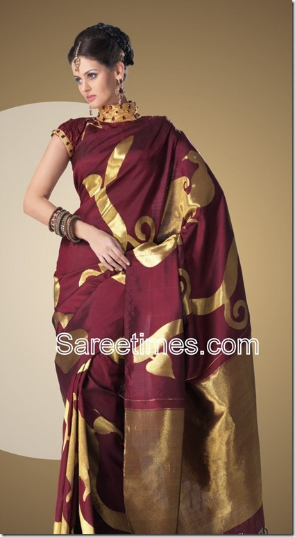 Brown_Designer_Traditinal_Saree
