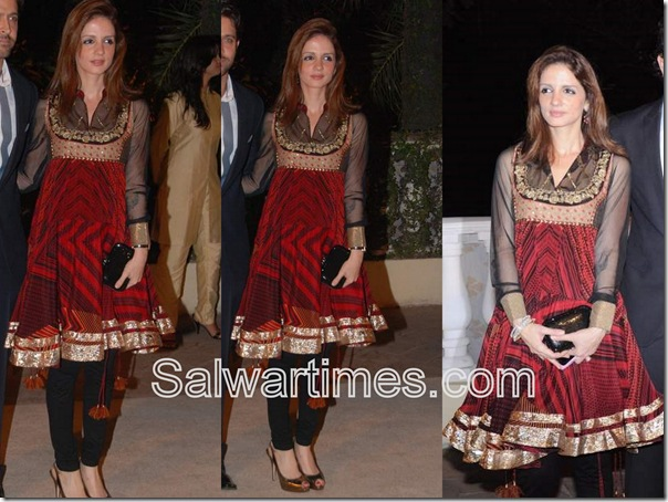 Sussanne_Khan_Roshan_Red_Designer_Salwar_Kameez