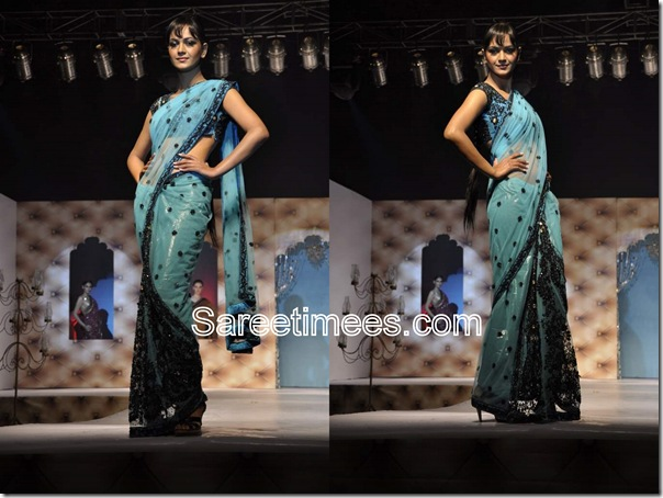 Umair_Zafar_Blue_Designer_Saree.