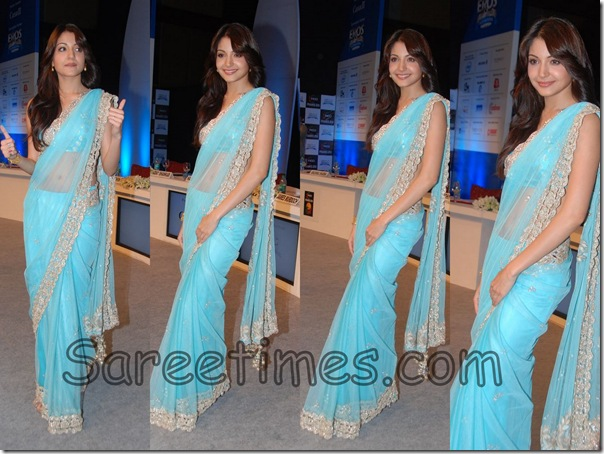 Anushka_Sharma_Blue_Designer_Saree