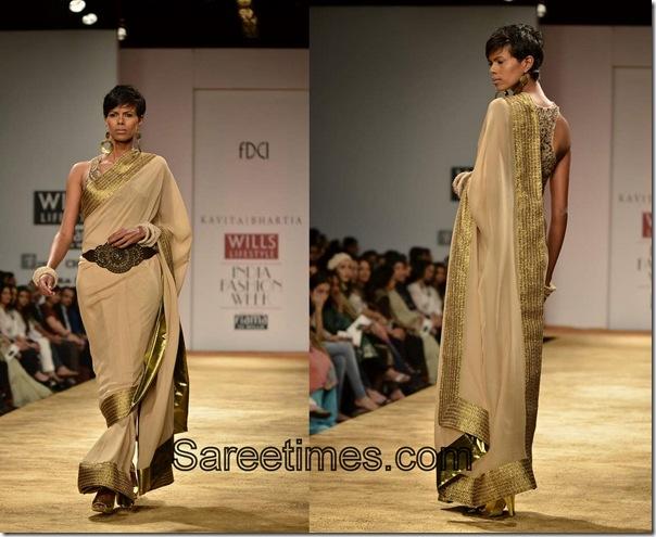 Kavita_Bhartia_Gold_Designer_Saree.