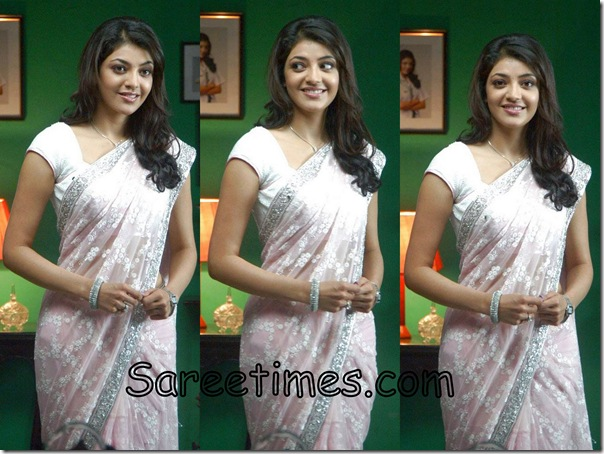Kajal_Agarwal_Cream_Designer_Saree