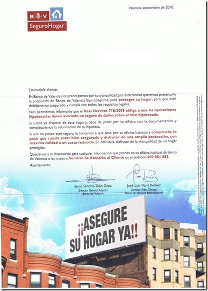 Requerimiento del Banco de Valencia (2010-09)