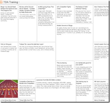 TDA Training Mosaic View