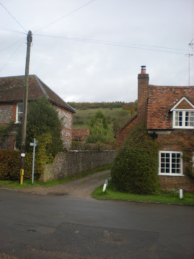 Turville - Village high street and hills to climb later.