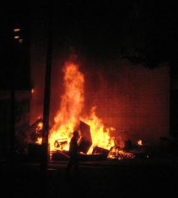 Riot arson