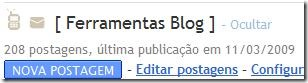 Painel do blogger