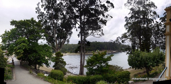 Port Arthur house - view from steps
