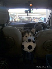 Munson with plush soccer ball