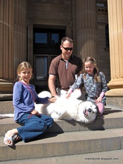 on the Art Gallery steps