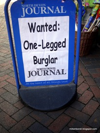 Wanted: One-legged burglar