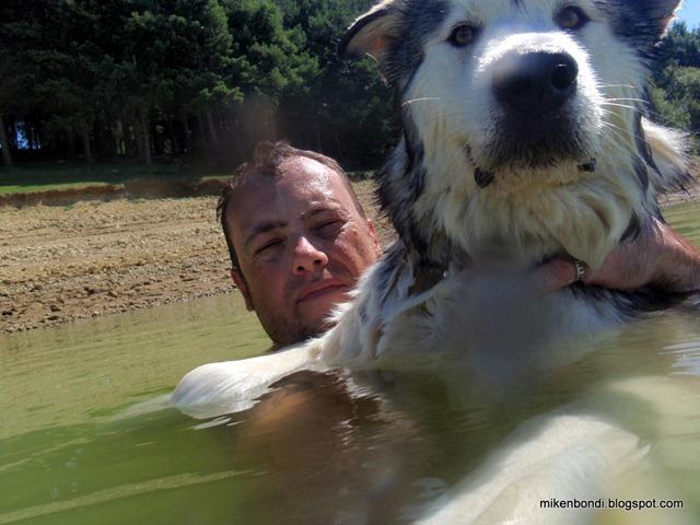 Mike and Munson at Lac de la Gimone