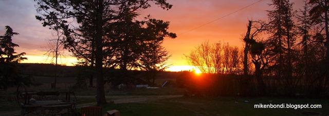 Sunset: east