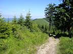 Złomisty Wierch: Północny i Południowy. Po lewej stronie głównego szlaku biegnie sobie wydeptany fajny singielek.