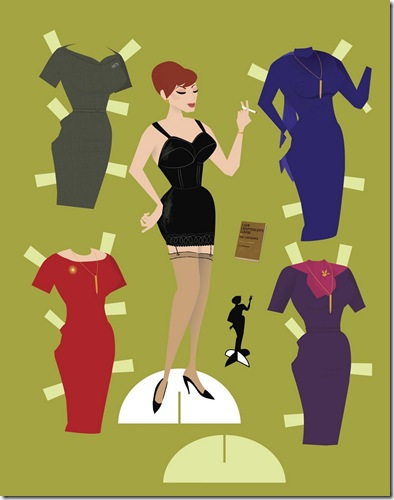 Mad Men Joan paper doll