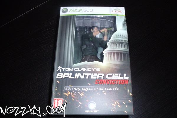 DÉBALLAGE : Splinter Cell Conviction Édition Collector Limitée (Xbox 360)