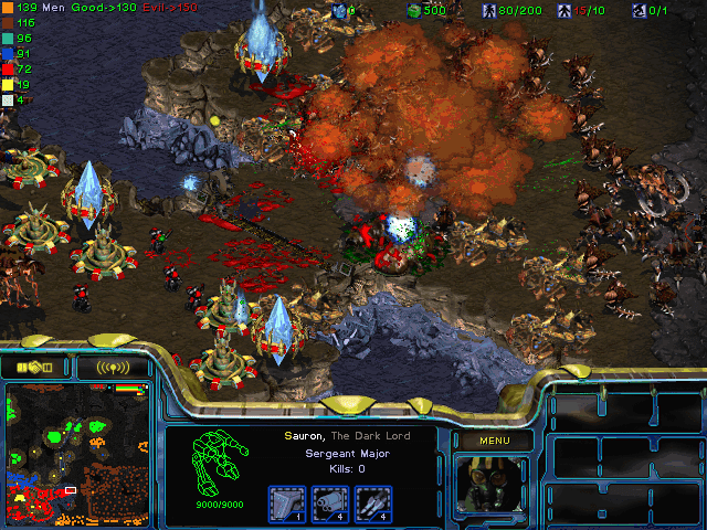 Download StarCraft Map: LOTR Siege of Gondor Random Heros Absolute