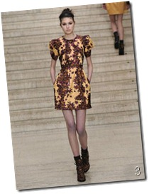 Erdem -gold dress