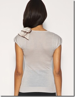 Mango Satin Bow Shoulder1
