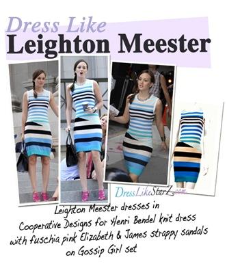 leighton-meester-blair-gossip-girl-fashion-henri-bendel-sweater-dress-small