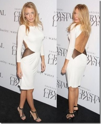 Blake Lively White Dress Cavalli 09