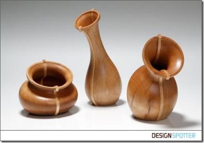 wood vases by paul loebach