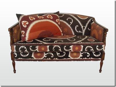 Suzani Upholstered Settee