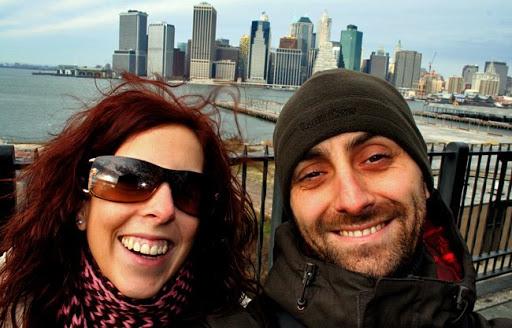 asier y yo en brooklyn con manhattan de fondo [haz click sobre la imagen para ver el album completo]