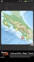 Screenshot of Costa Rica Earthquakes