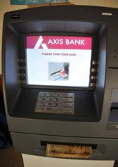 AXIS Bank ATM center in Lucknow.
