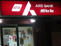Axis Bank atm center in Bangalore.