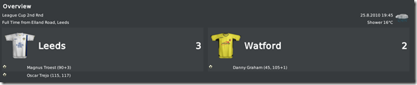 Dramatic match between Leeds and Watford