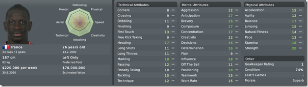 Mamadou Sakho in Football Manager 2010
