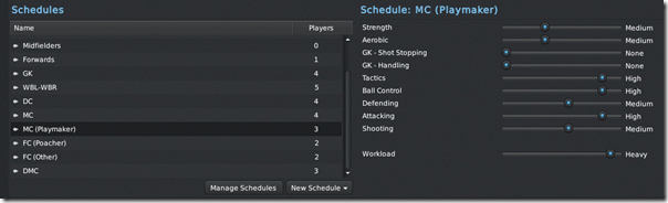 Football Manager 2011 Training Schedules