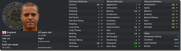 Lee Canoville in Football Manager 2011