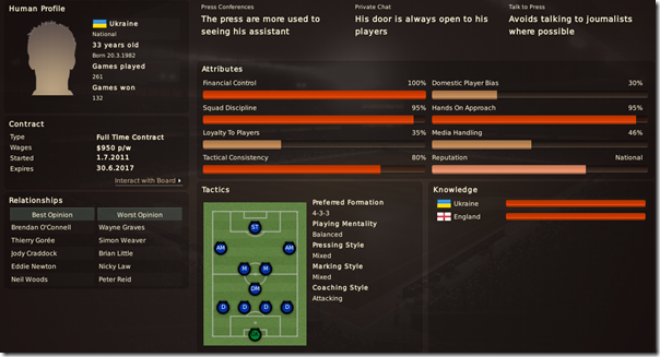 Vitaliy Mokosiy's profile in Football Manager 2011