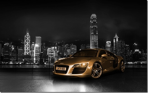 Audi_R8_Gold_1920 x 1200 widescreen